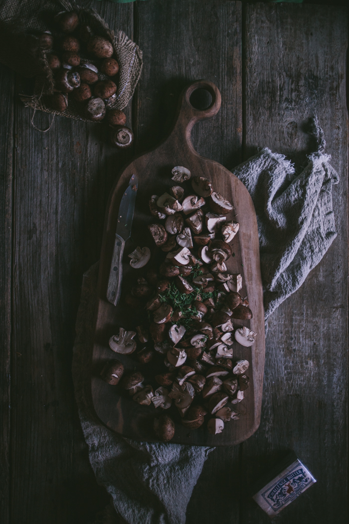 Chicken with Mushrooms in Wine by Eva Kosmas Flores | Adventures in Cooking