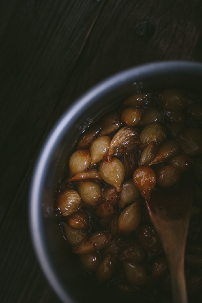 Balsamic Caramelized Pearl Onions by Eva Kosmas Flores | Adventures in Cooking