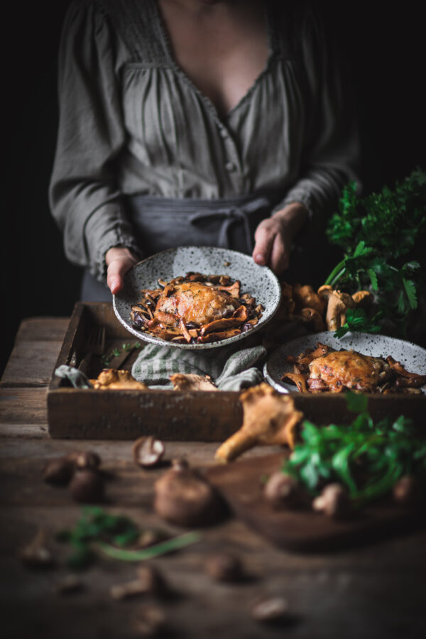 Hands Holding Chicken Food Photography