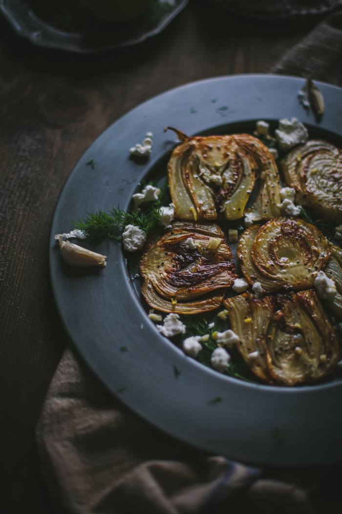 Caramelized Fennel Bulbs With Goat's Cheese