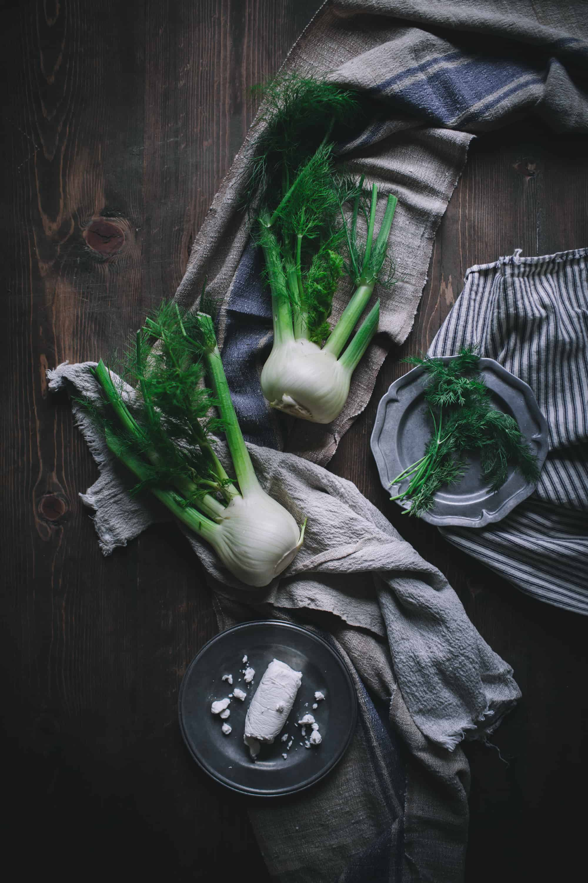 Caramelized Fennel Bulbs With Goat's Cheese by Eva Kosmas Flores