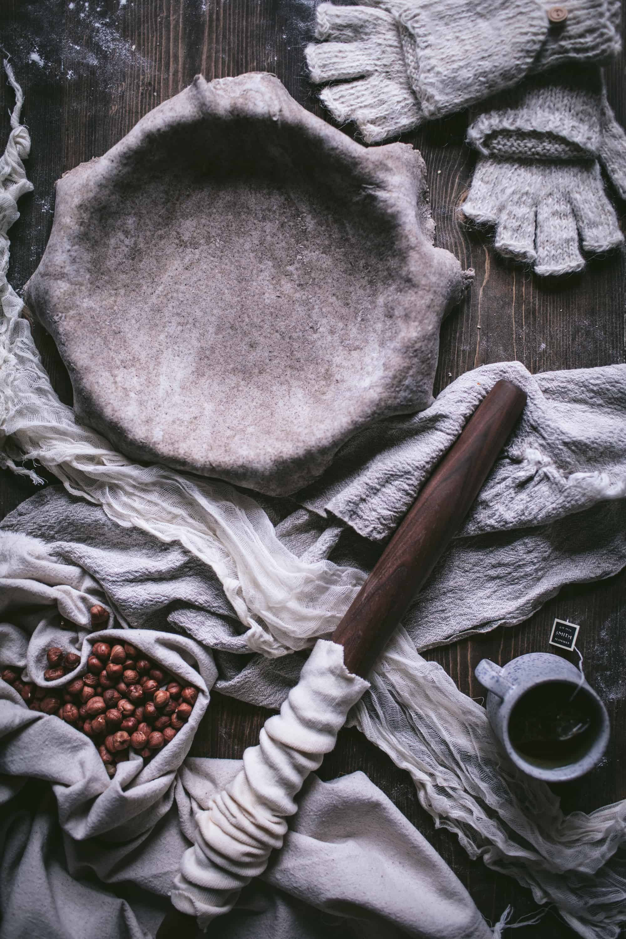 Hazelnut Chocolate Chess Pie With A Buckwheat Crust by Eva Kosmas Flores