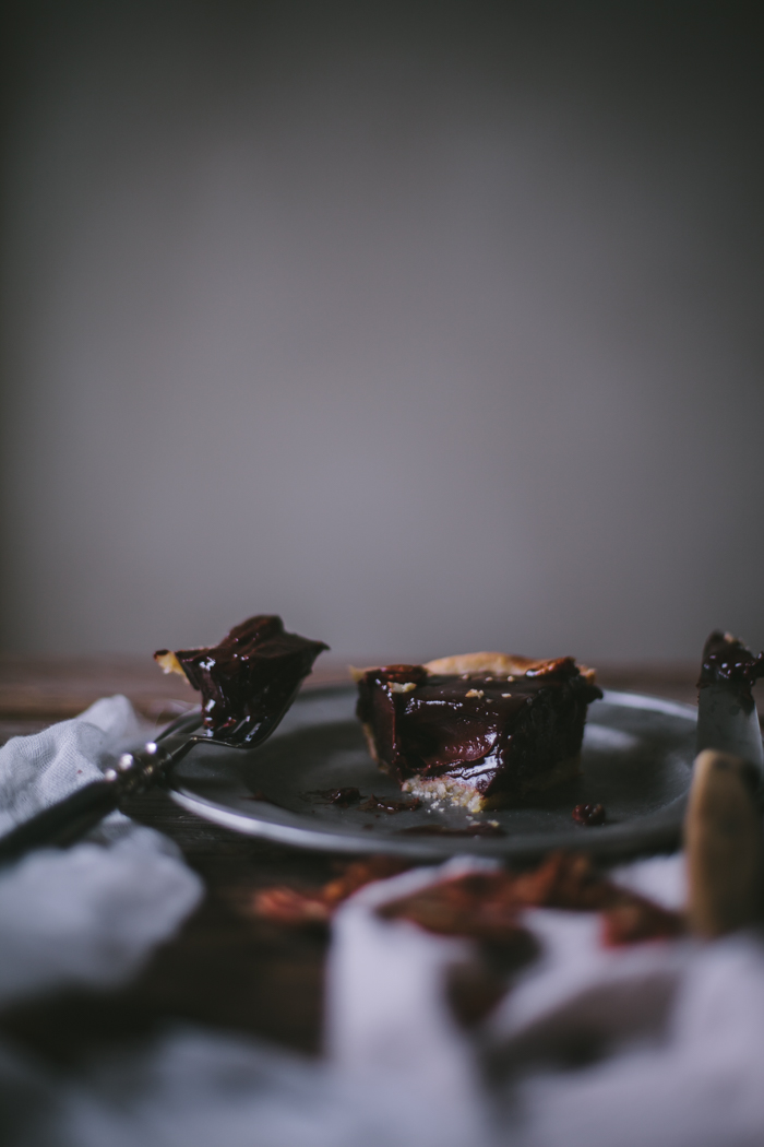 Cast Iron Deep Dish Chocolate Pecan Tart + A Finex Giveaway