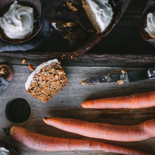 Carrot Cake Citrus Cupcakes With Cream Cheese Frosting by Eva Kosmas Flores