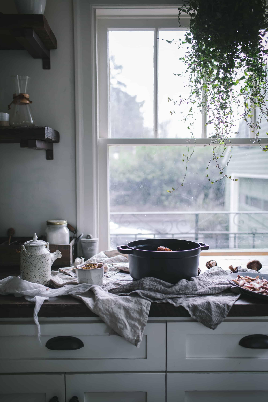 Glazed Chicken Drumsticks With Shiitake Mushrooms & Turnip Umami Rice by Eva Kosmas Flores