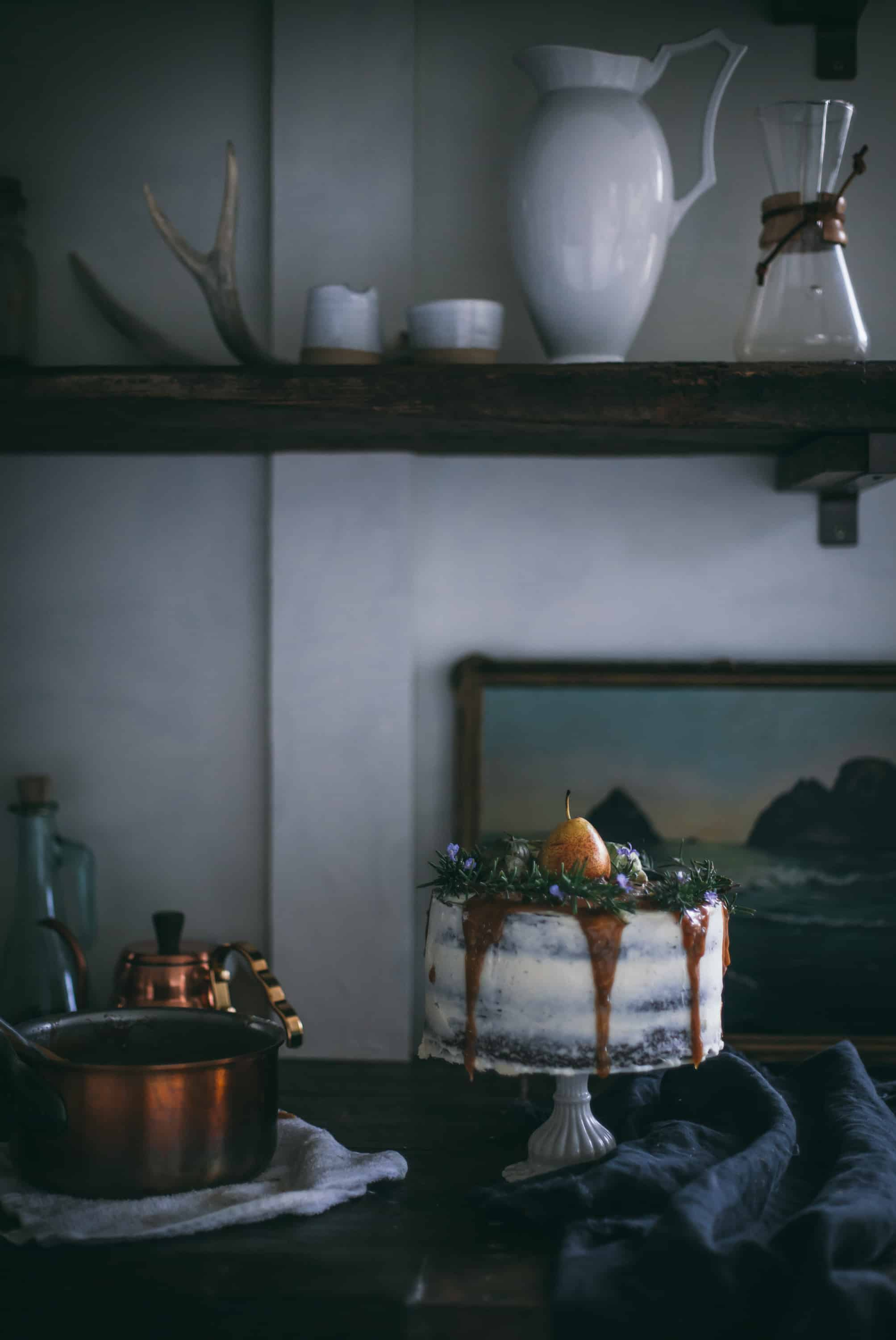 Whiskey Date and Buttermilk Cake with Salted Pear Caramel Buttercream by Eva Kosmas Flores