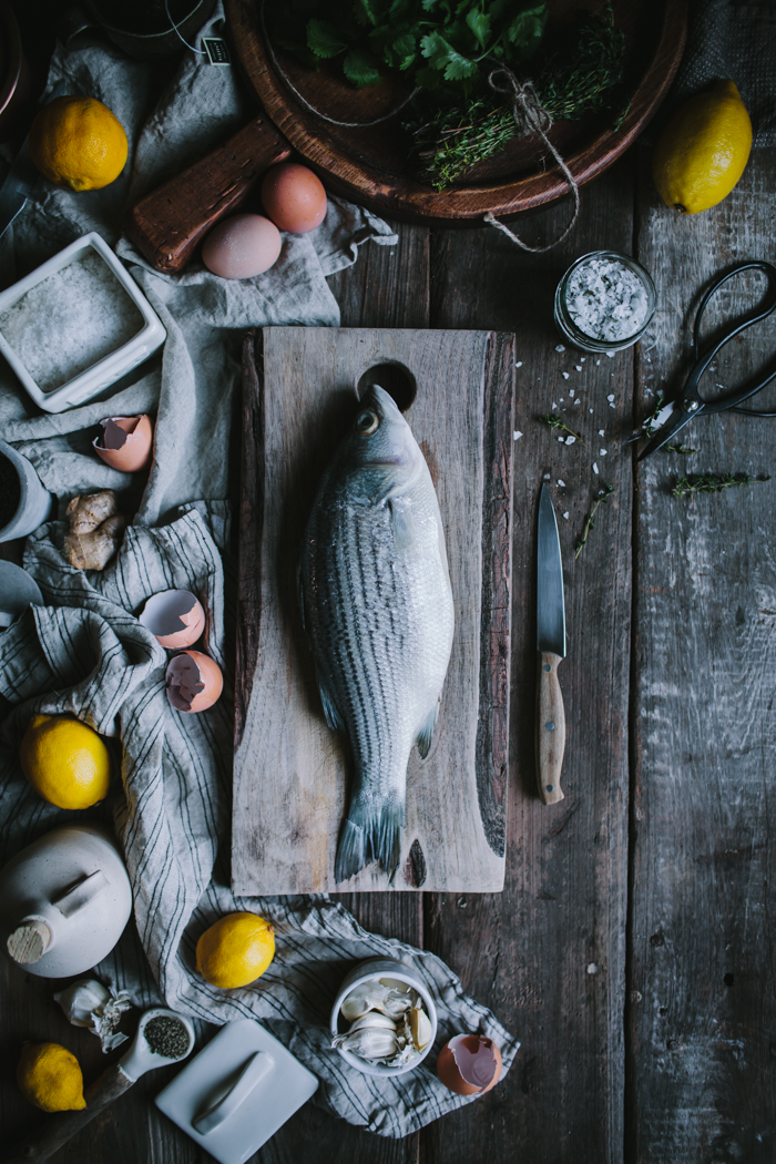 Salt Baked Sea Bass + Asheville Food Photography & Fly Fishing Workshop by Eva Kosmas Flores