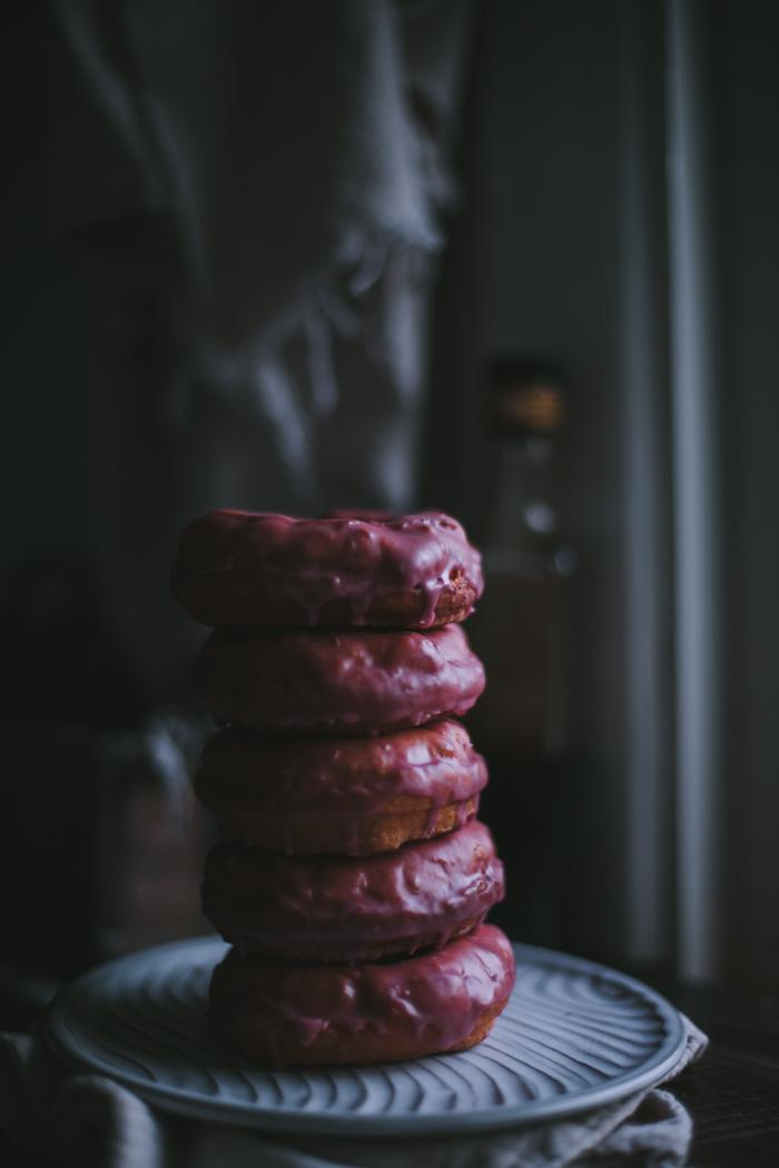 Rosemary Donuts with Pomegranate Balsamic Glaze by Eva Kosmas Flores