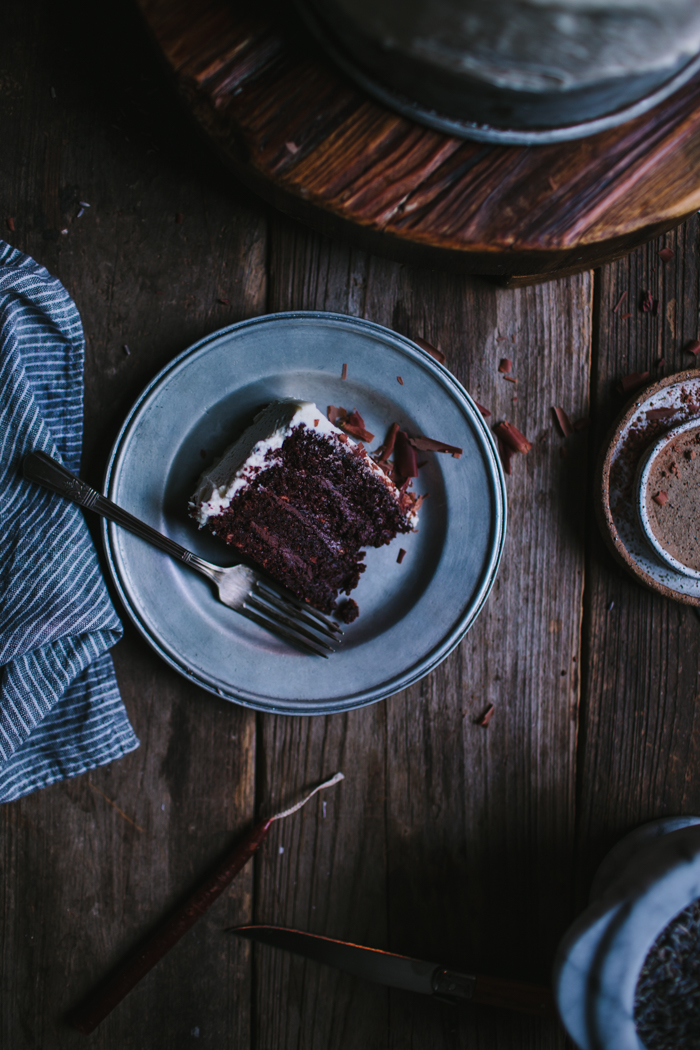 Dark Chocolate Cake With Lavender Ganache + A Portland Workshop