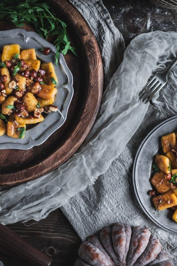 Crispy Pumpkin Gnocchi with Brown Butter Tarragon and Hazelnuts by Eva Kosmas Flores