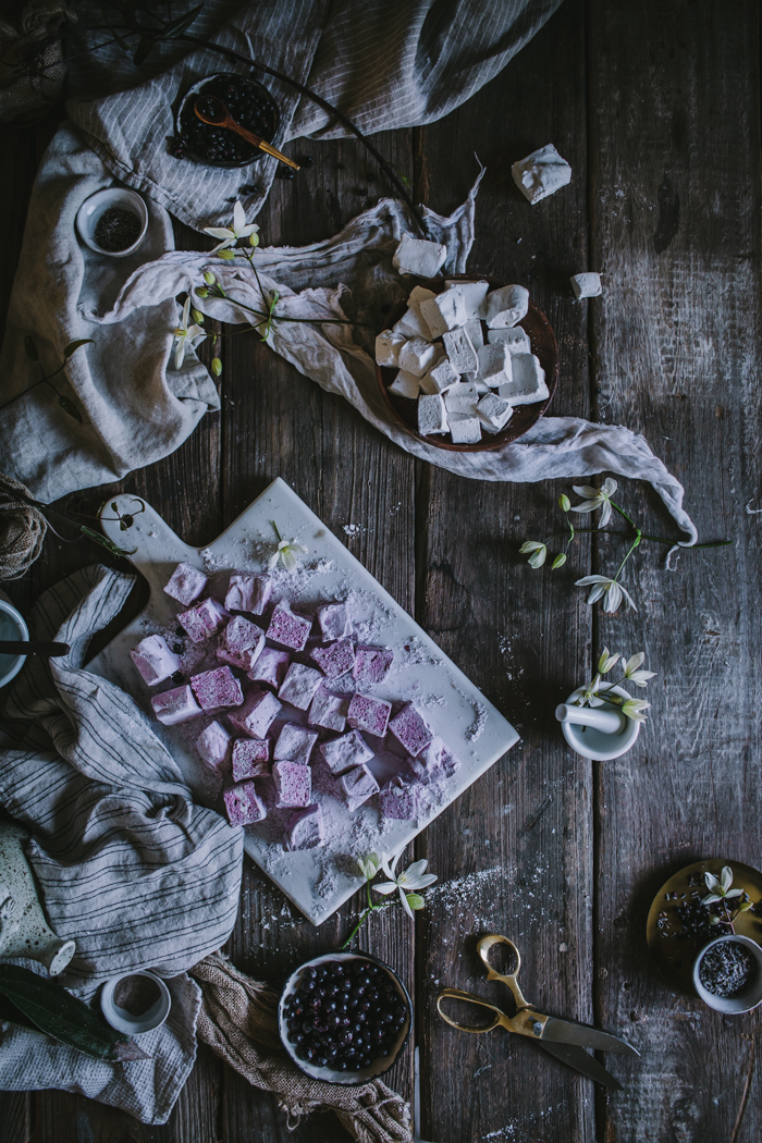 Homemade Lavender  Black Currant & Vanilla Bean Rose Marshmallows
