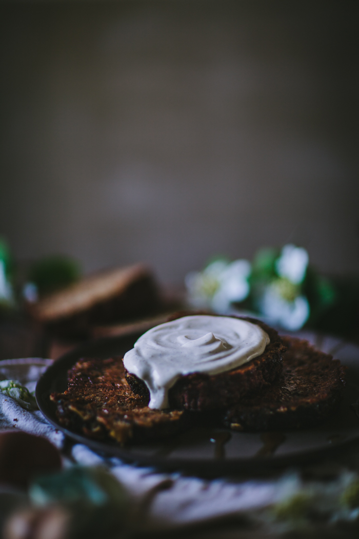 Banana Bread French Toast with Vanilla Creme Fraiche by Eva Kosmas Flores | Adventures in Cooking