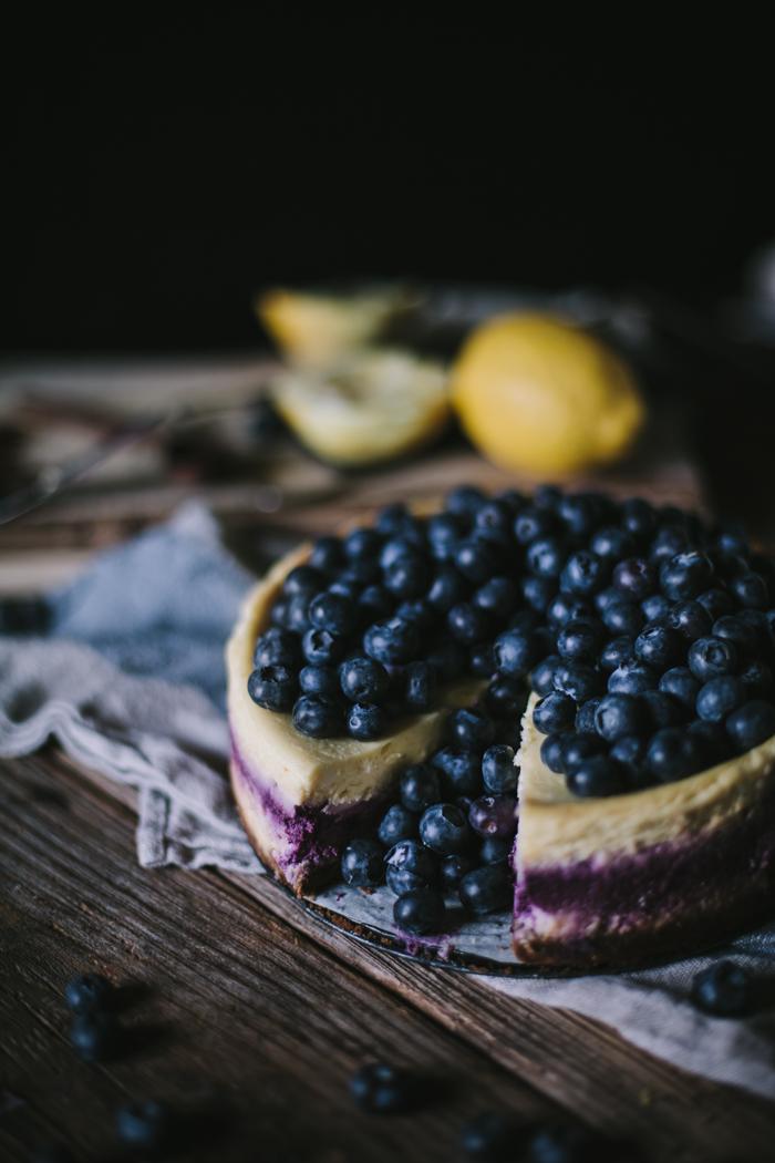 Blueberry Lemon Cheesecake by Eva Kosmas Flores | Adventures in Cooking