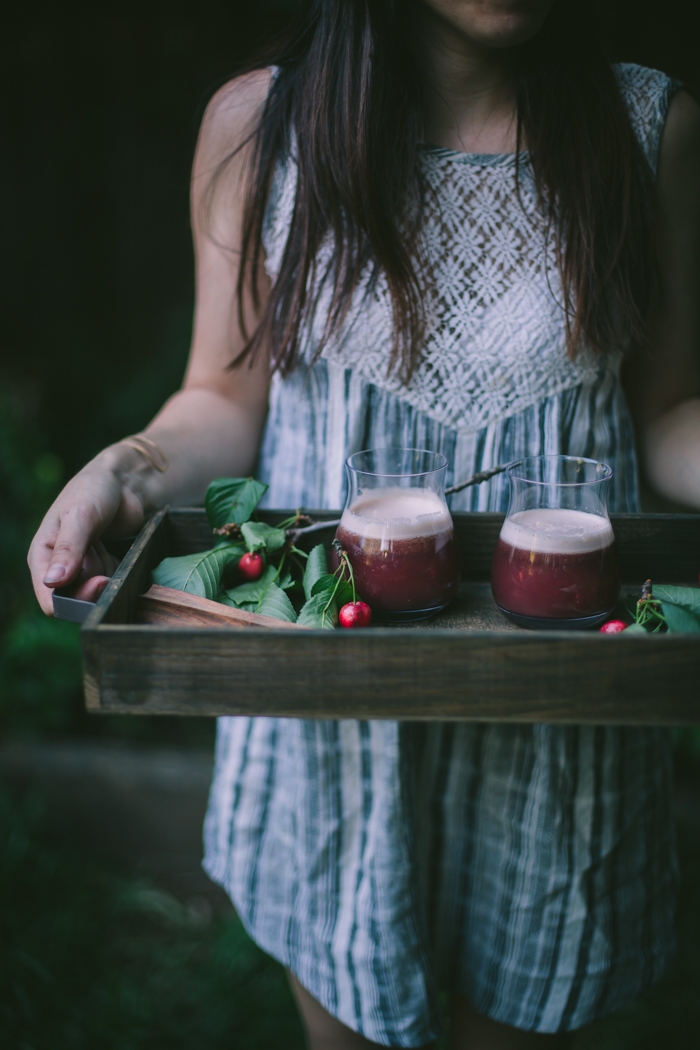Cherry Shrub by Eva Kosmas Flores | Adventures in Cooking