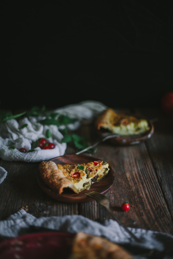 Summer Vegetable Quiche by Eva Kosmas Flores