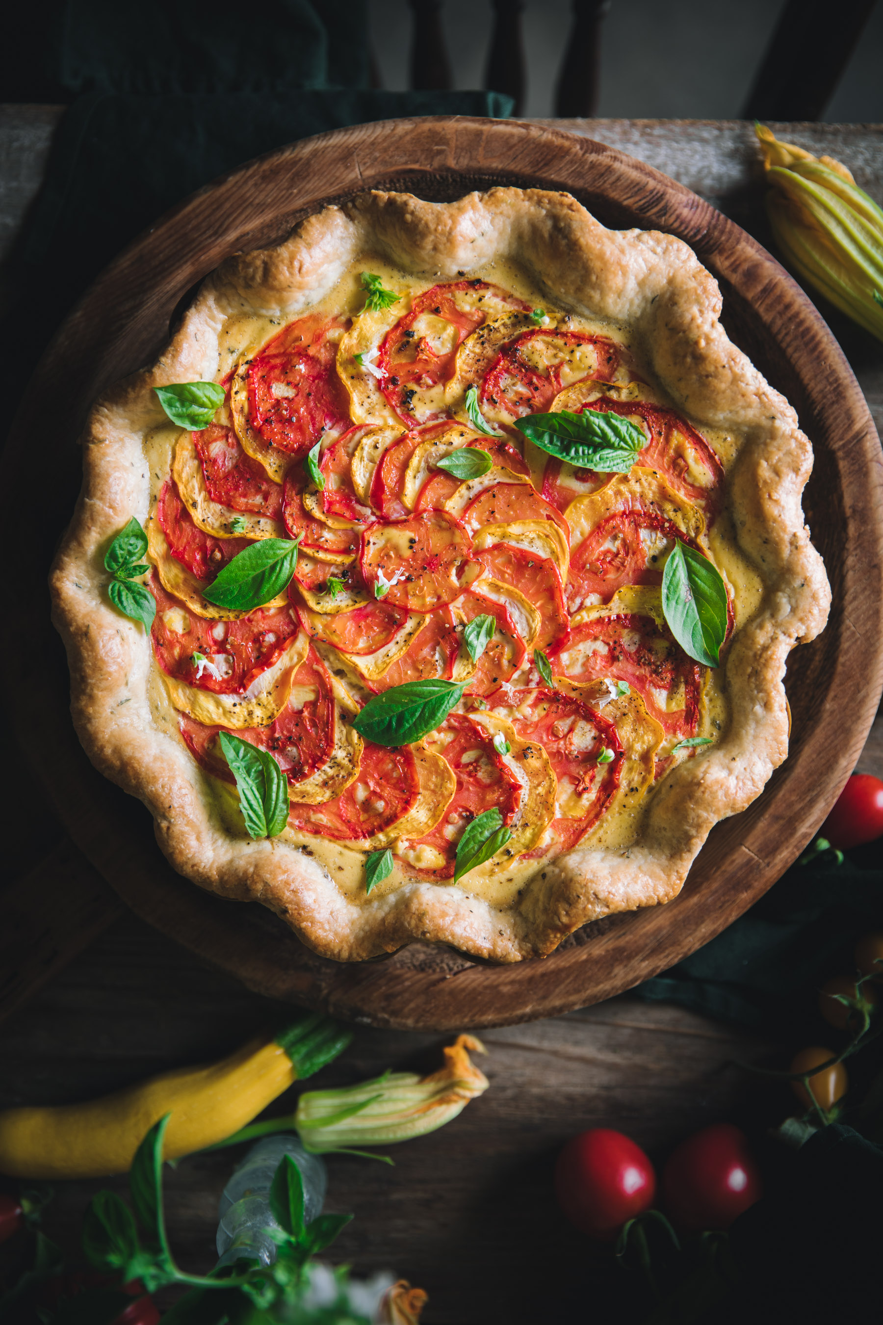 Tomato and Zucchini Quiche