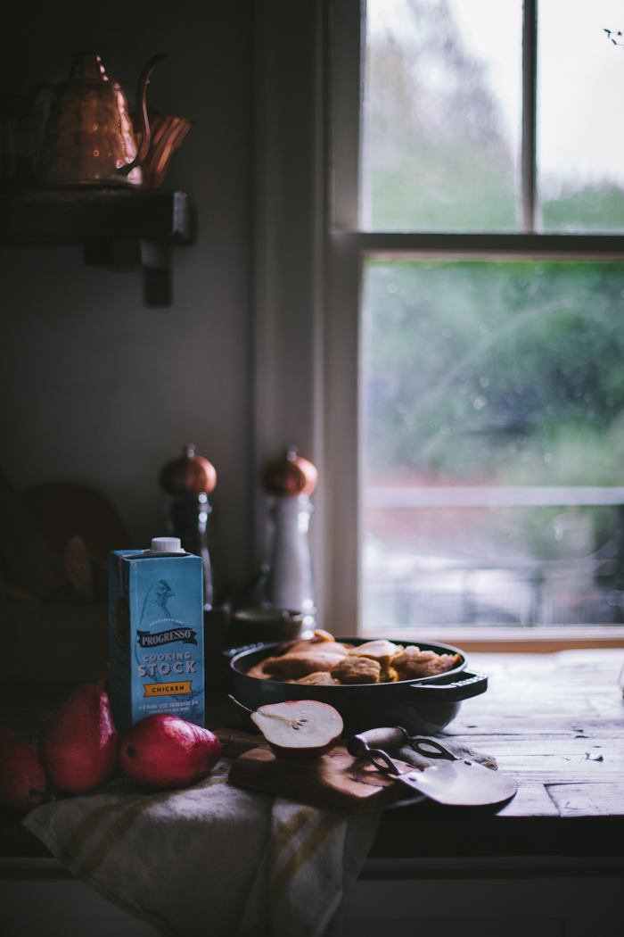 Pumpkin Cornbread Stuffing with Bacon & Dates by Eva Kosmas Flores | Adventures in Cooking