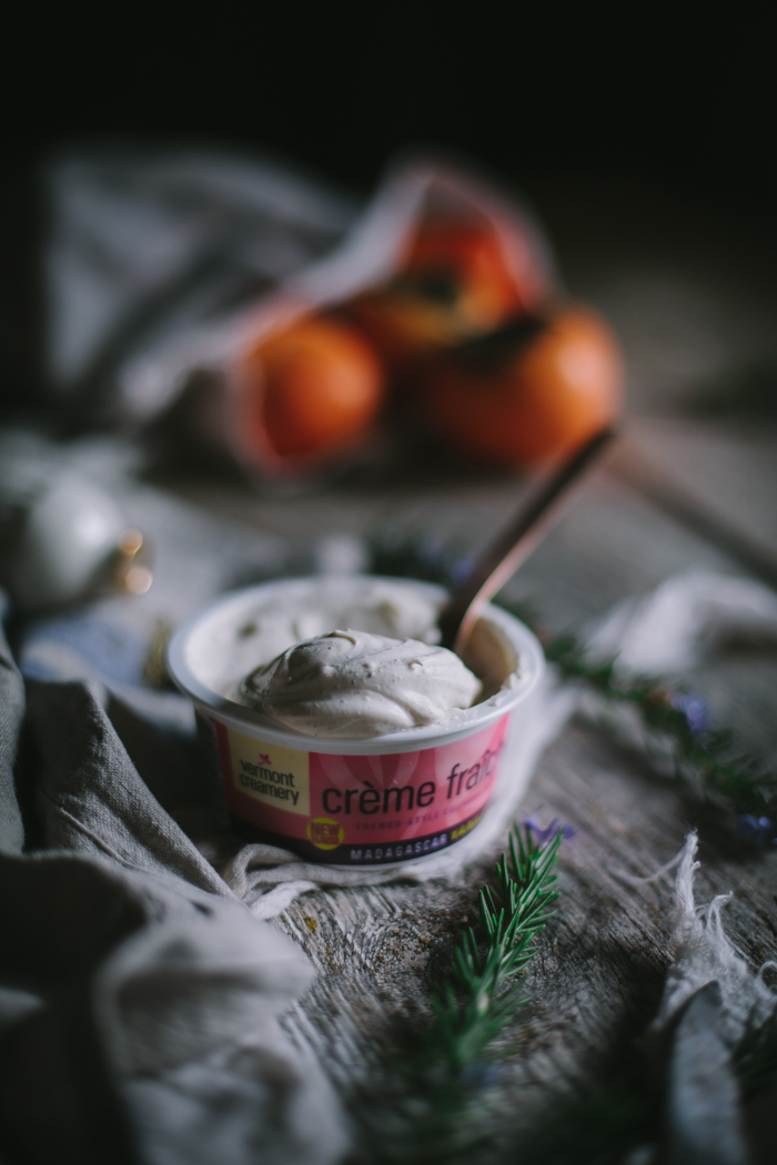 Persimmon Custard Tart by Eva Kosmas Flores