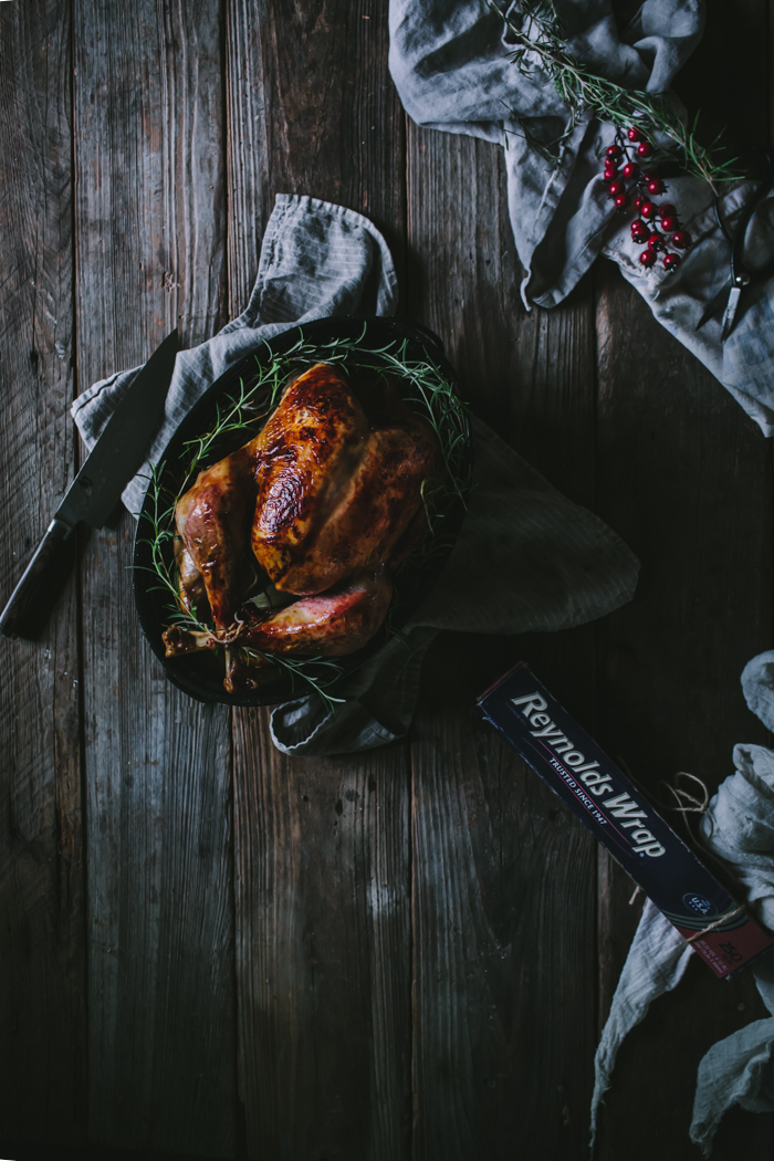 Roast Rosemary Turkey with a Cranberry and Pomegranate Glaze by Eva Kosmas Flores