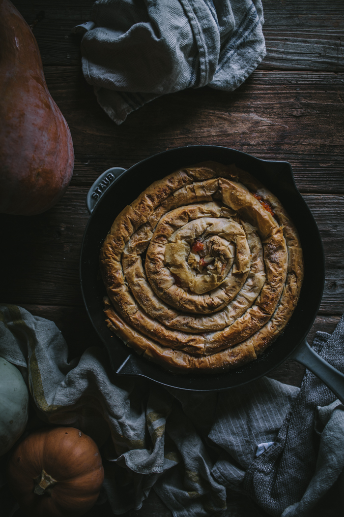 Winter Squash Filo Spiral