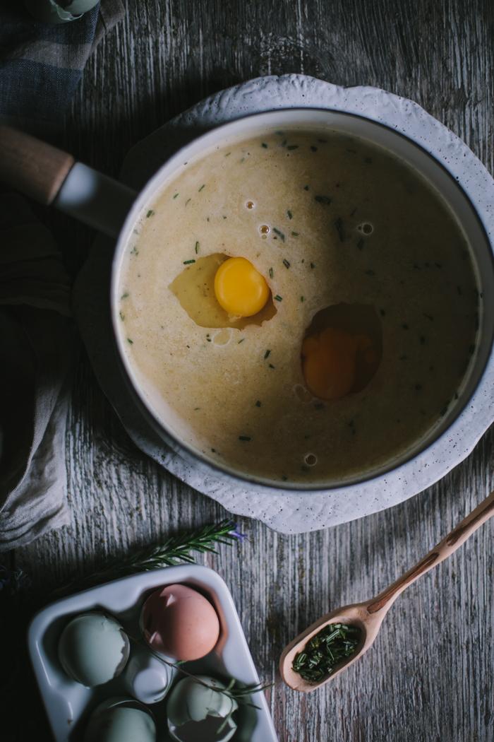 Persimmon & Creme Fraiche Custard Tart by Eva Kosmas Flores
