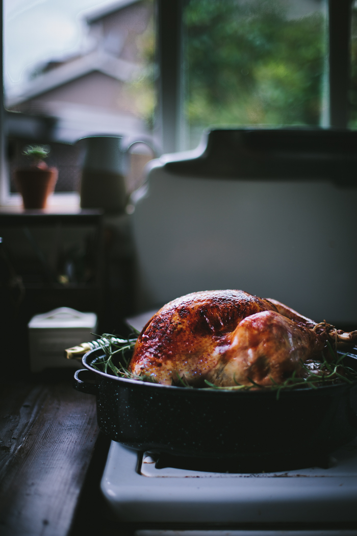 Roast Rosemary Turkey with a Cranberry and Pomegranate Glaze