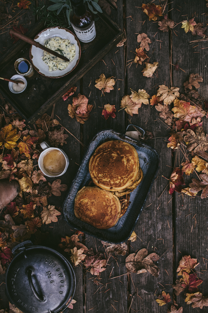 Pumpkin Ricotta Pancakes by Eva Kosmas Flores | Adventures in Cooking