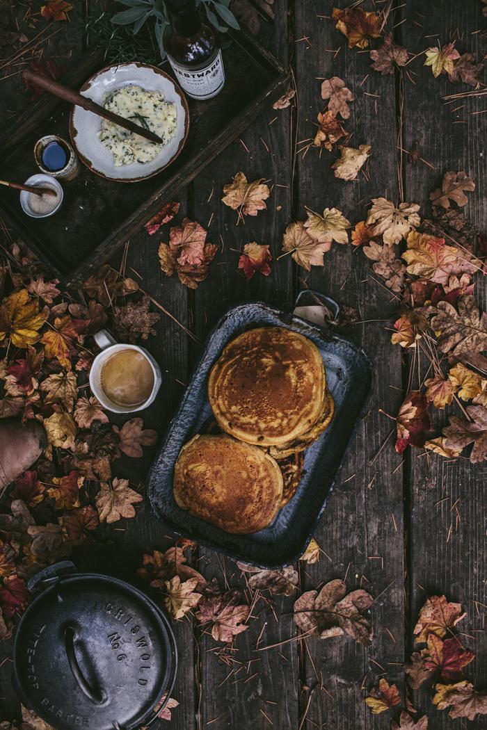 Autumn Camping + Pumpkin Mascarpone Pancakes & Butternut Chili