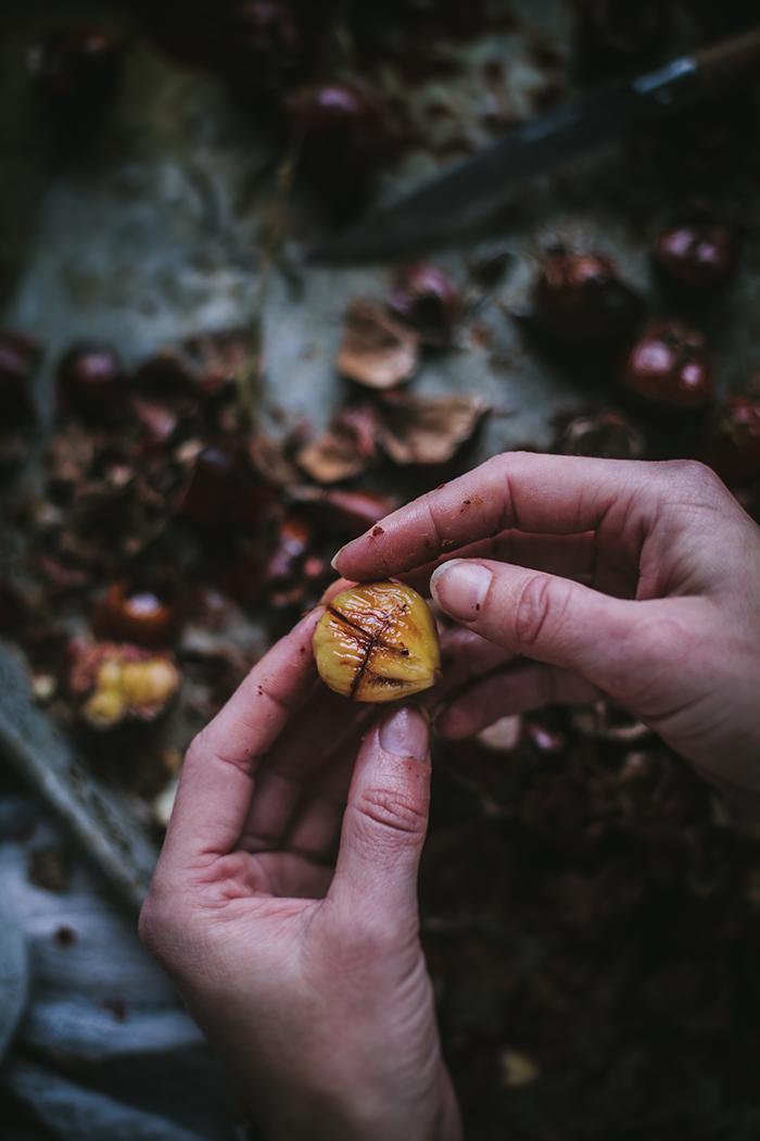 Roast Chestnuts by Eva Kosmas Flores | Adventures in Cooking
