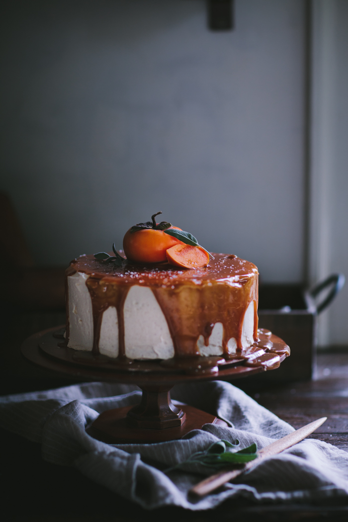 Six Years of Adventures in Cooking + Persimmon Cake with Brown Butter Icing and Salted Creme Fraiche Caramel