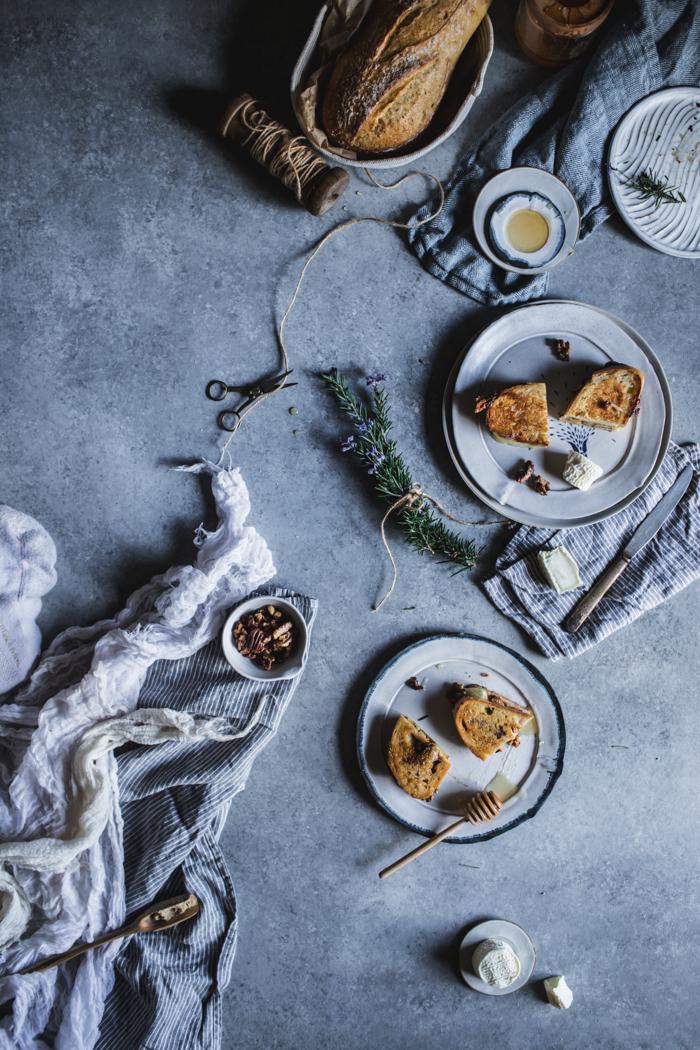 Honey, Rosemary, Walnut, & Bijou Grilled Cheese