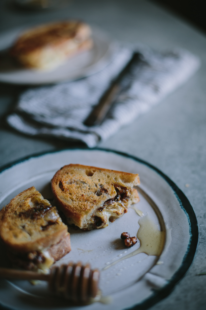 Honey, Rosemary, Walnut, & Bijou Grilled Cheese by Eva Kosmas Flores