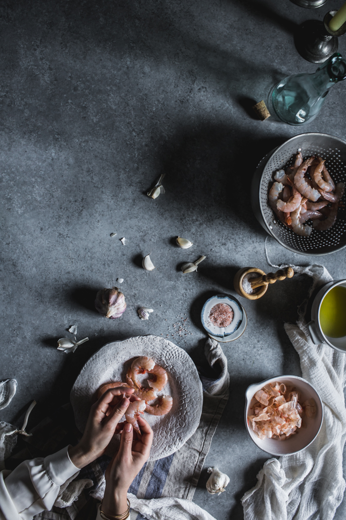 Garlic Shrimp by Eva Kosmas Flores | Adventures in Cooking