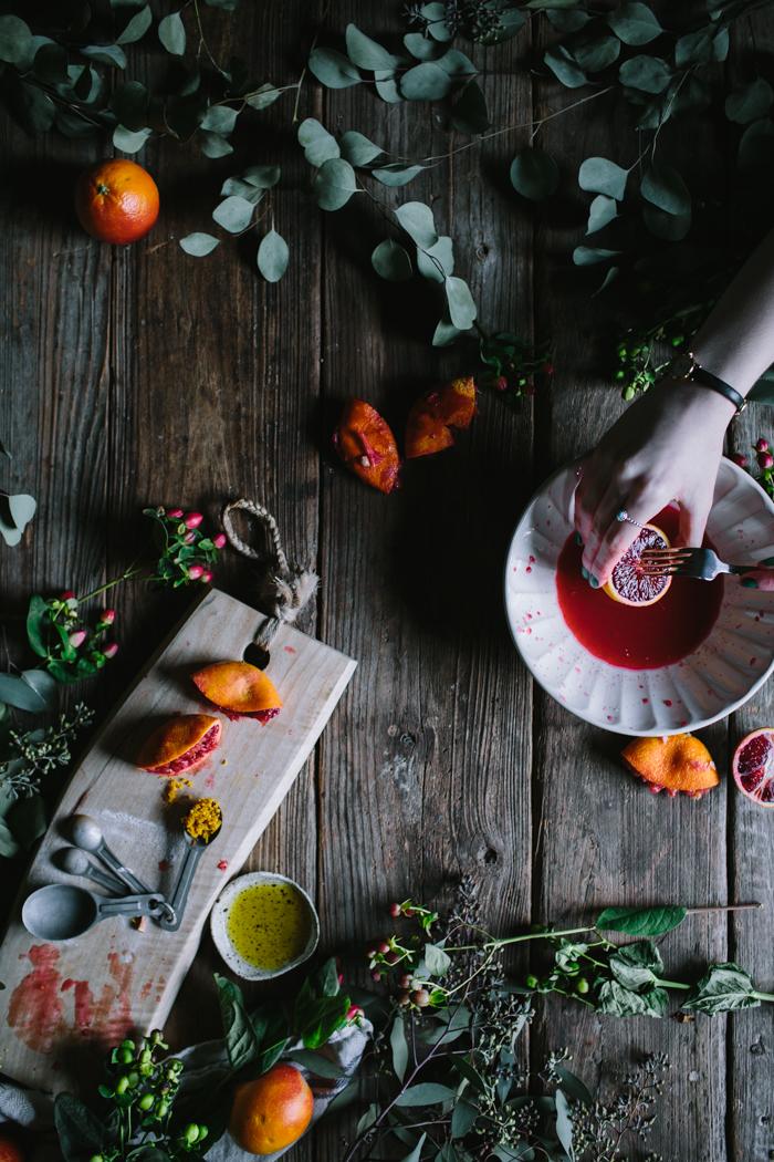 Orange & Olive Oil Curd Meringue Stack by Eva Kosmas Flores | Adventures in Cooking
