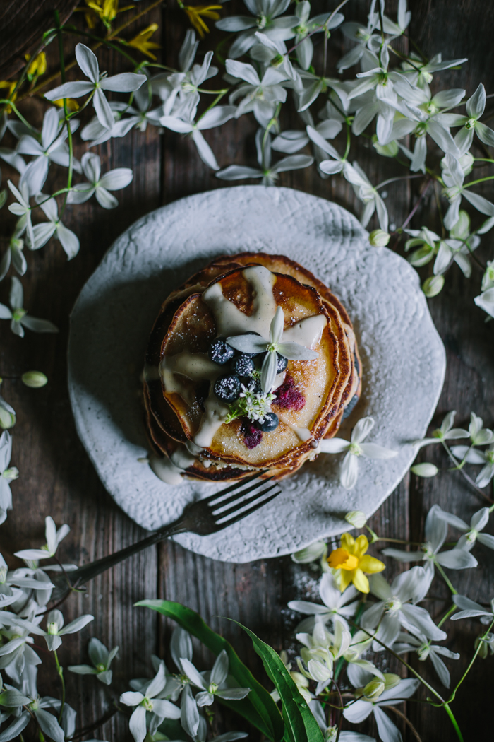 Blueberry Lemon Pancakes by Eva Kosmas Flores | Adventures in Cooking
