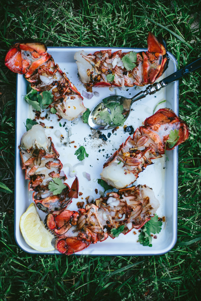 Quick & Easy Ember-Grilled Lobster Tails With A Shallot Butter Broth