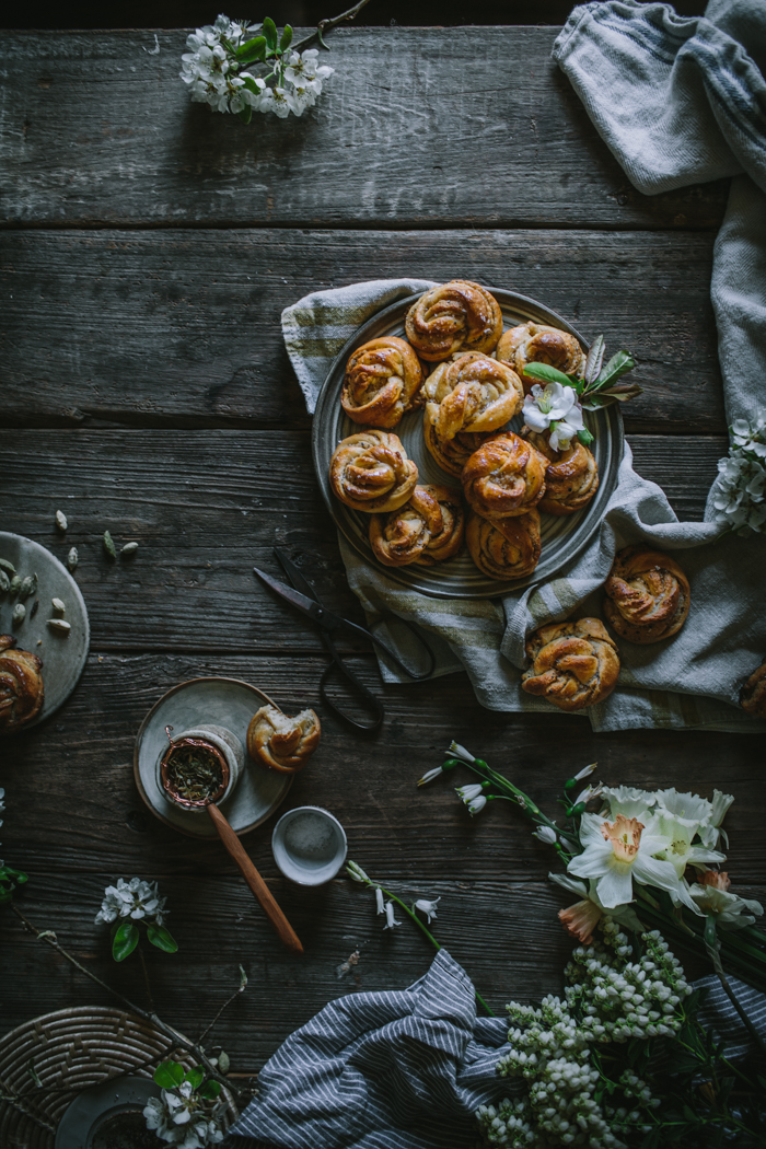 Salted Swedish Cardamom Buns by Eva Kosmas Flores | Adventures in Cooking