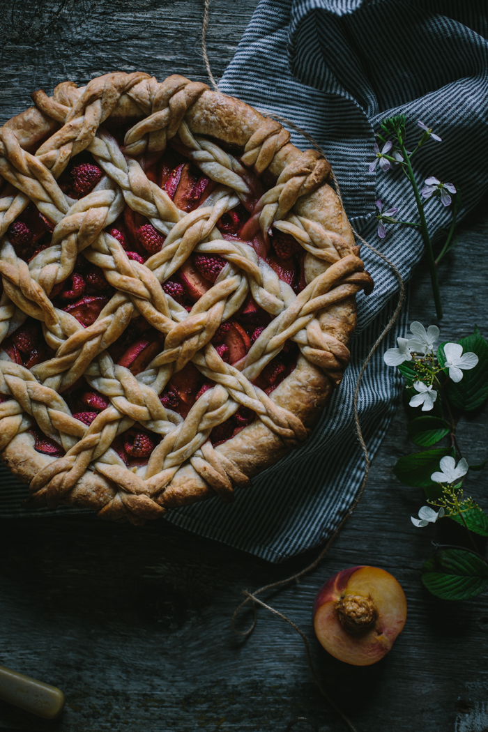 Golden Syrup Peach Pie by Eva Kosmas Flores | Adventures in Cooking