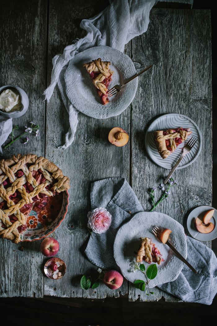 Golden Syrup Peach Pie by Eva Kosmas Flores