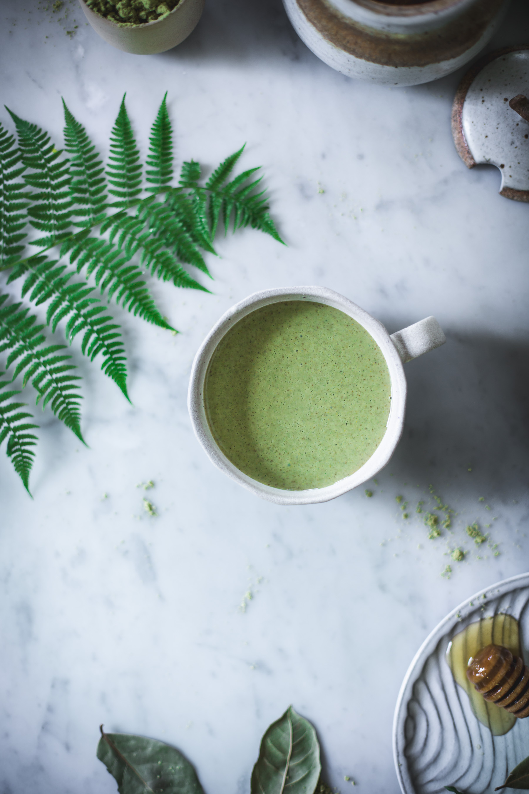 Matcha Green Tea Latte with Coconut