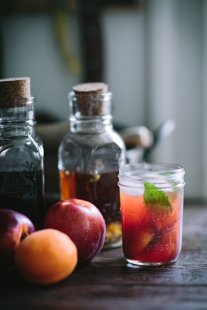 Roasted Stone Fruit and Bungalow Tea Punch