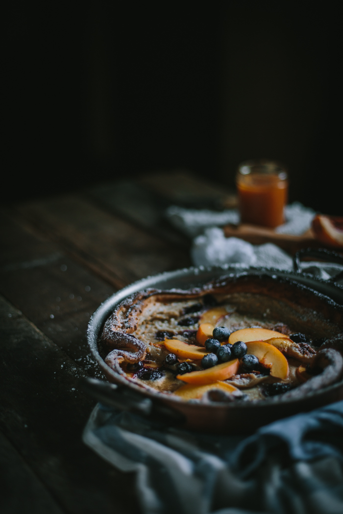 Peach & Blueberry Dutch Baby with Homemade Peach Jame + A Copper Giveaway