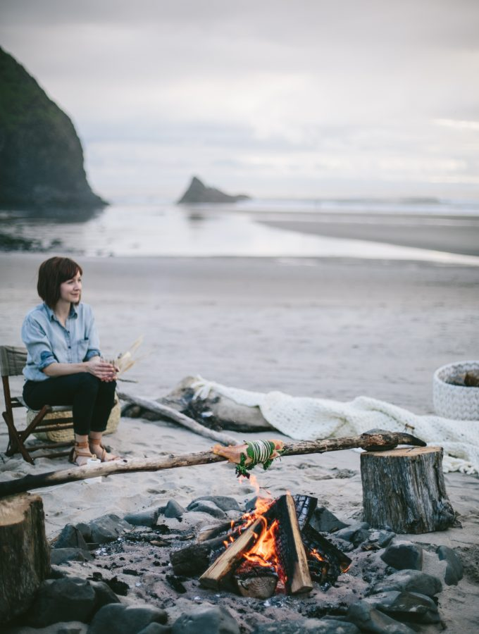 Fire-Roasted Trout with Lemon and Herbs and Citrus Gin Punch and A Daytrip To The Oregon Coast