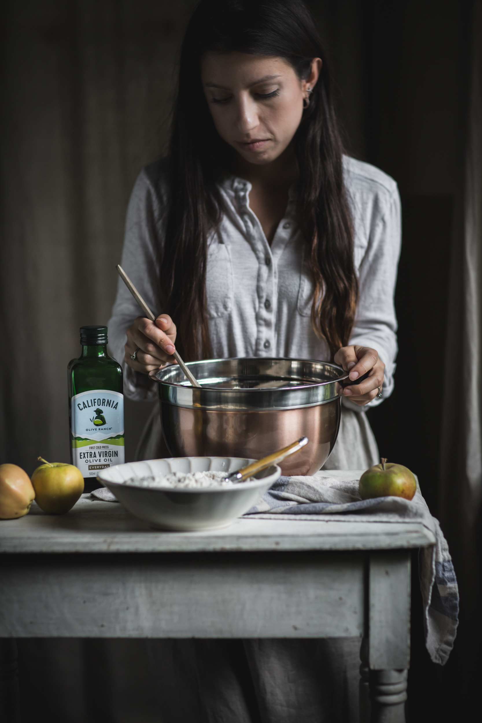 Caramel Apple Upside Down Cake by Eva Kosmas Flores | Adventures in Cooking