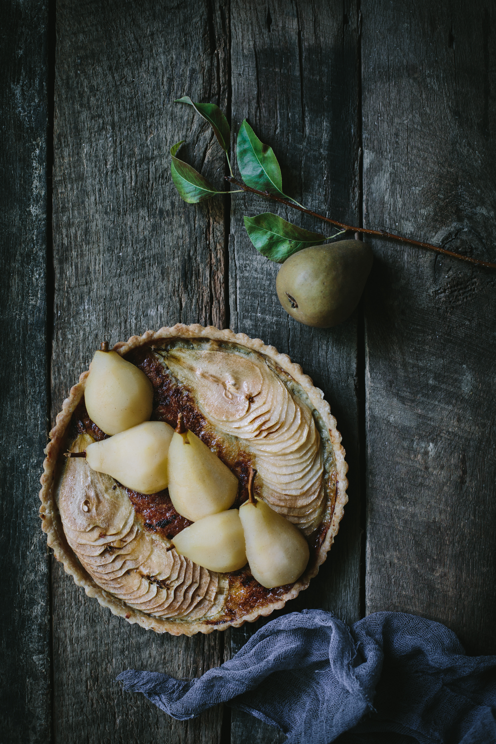 Pear & Blue Cheese Tart by Eva Kosmas Flores | Adventures in Cooking