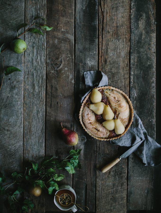 Honeyed Pear & Blue Cheese Tart + A Mess