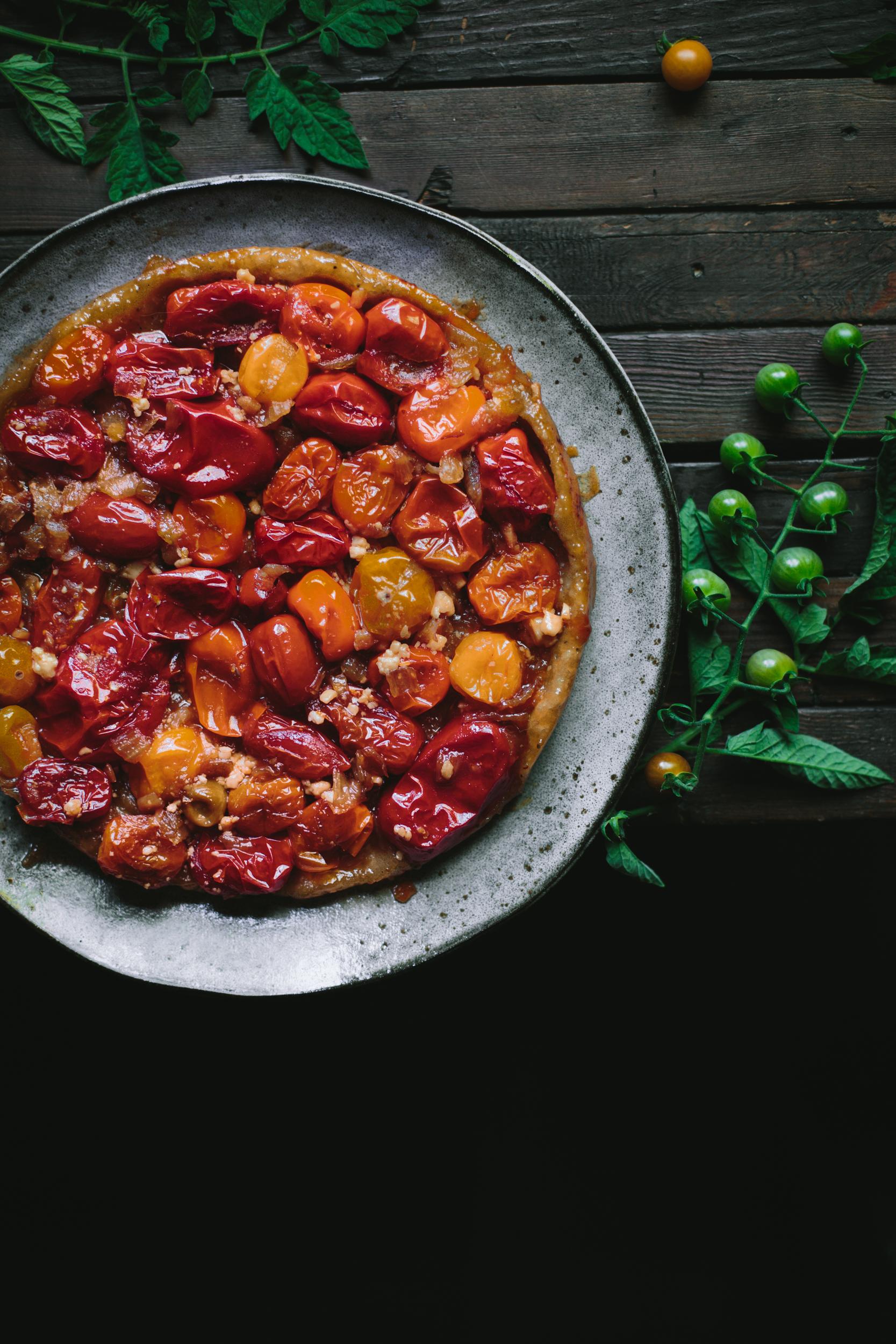 Tomato Chevre Tarte Tatin-3