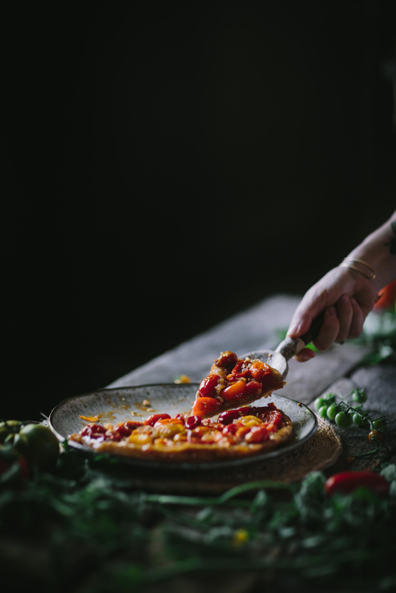 Tomato Chevre Tarte Tatin-8