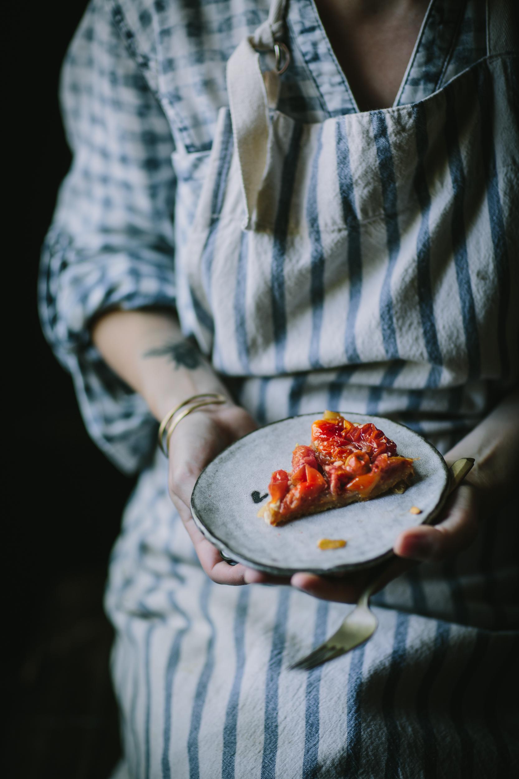 Tomato Chevre Tarte Tatin-9