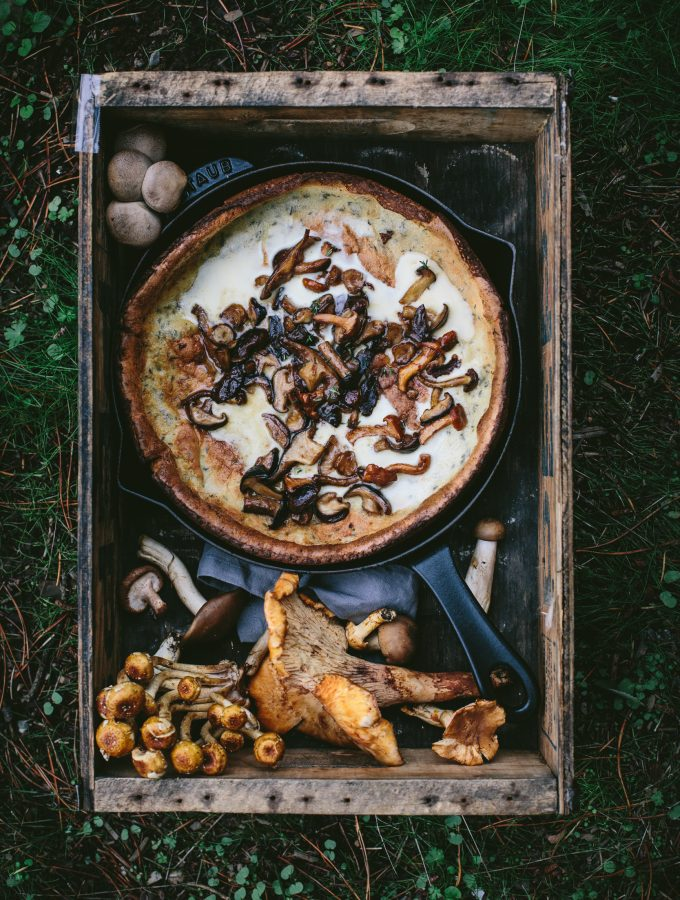 Online Photography Workshop + Mushroom Dutch Baby  With Roasted Chanterelle Butter